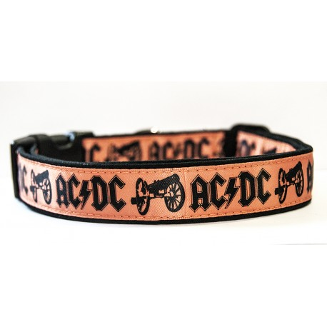 AC/DC For Those About To Rock ACDC Angus Young Collar Perro Hecho A Mano HandMade Dog Collar