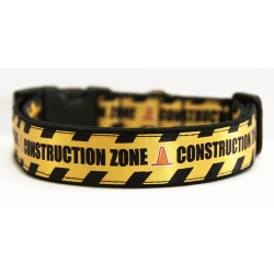 Construction Zone Collar Perro Hecho A Mano HandMade Dog Collar